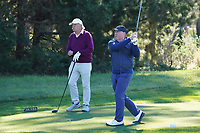 Gerry McManus and Dermot Desmond in action at Monterey Peninsula during the first round of the AT&T Pro-Am, Pebble Beach Golf Links, Monterey, California, USA. 06/02/2020<br /> Picture: Golffile | Phil Inglis<br /> <br /> <br /> All photo usage must carry mandatory copyright credit (© Golffile | Phil Inglis)