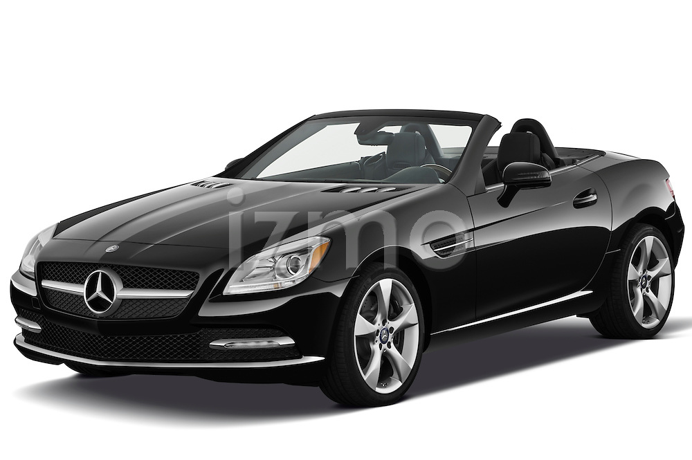 Front three quarter view of a 2013 Mercedes SLK Class .