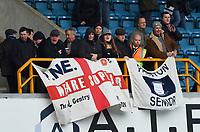 Preston supporters <br /> <br /> Photographer Jon Hobley/CameraSport<br /> <br /> The EFL Sky Bet Championship - Millwall v Preston North End - Saturday 13th January 2018 - The Den - London<br /> <br /> World Copyright &copy; 2018 CameraSport. All rights reserved. 43 Linden Ave. Countesthorpe. Leicester. England. LE8 5PG - Tel: +44 (0) 116 277 4147 - admin@camerasport.com - www.camerasport.com