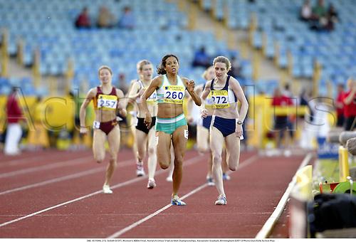 260. JO FENN, 272. SUSAN SCOTT, Women's 800m Final, Norwich Union Trials & AAA Championships, Alexander Stadium, Birmingham 020713 Photo:Glyn Kirk/Action Plus...2002 Athletics.Track and Field .woman