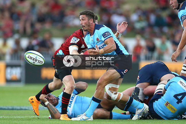 NELSON, NEW ZEALAND - February: Super 15 Rugby Super 15 Rugby - Crusaders v Waratahs ,Trafalgar Park Nelson, New Zealand. Saturday 1 Feburary 2020. (Photo by Shuttersport Limited)