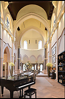 BNPS.co.uk (01202 558833)<br /> Pic: KnightFrank/BNPS<br /> <br /> Fans of TV show Call the Midwife will be praying they can get their hands on this heavenly home - on the market for &pound;6million.<br /> <br /> The Chapel is a stunning converted Victorian church with 45ft high vaulted ceilings and period features, as well as a 110-inch cinema screen and its own spa.<br /> <br /> The incredible property was once part of a seminary college, but after the seminary closed in 2008 the outside of the property appeared in the BBC nursing drama as a stand-in recreation of the convent Nonnatus House, where the original books are set.<br /> <br /> The four-bedroom house in Mill Hill, Barnet, North London, is now up for sale through Knight Frank.