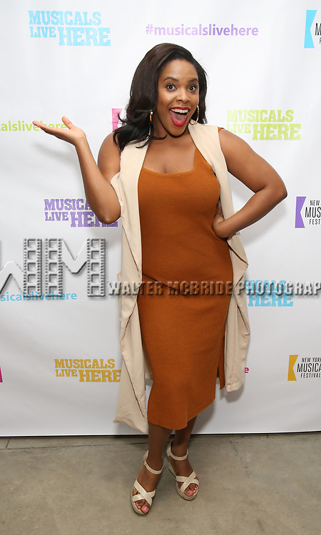 "Bryonha Marie Parham backstage at the New York Musical Festival production of  ""Alive! The Zombie Musical"" at the Alice Griffin Jewel Box Theatre on July 29, 2019 in New York City."