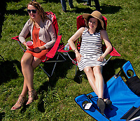 LEXINGTON, KENTUCKY - APRIL 08: Fans kick back and relax on The Hill on Blue Grass Stakes Day at Keeneland Race Course on April 8, 2017 in Lexington, Kentucky. (Photo by Scott Serio/Eclipse Sportswire/Getty Images)