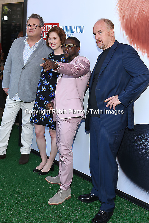 Eric Stonestreet. Ellie Kemper, Kevin Hart and Louis C.K. attend the New York Premiere of &quot;The Secret Life of Pets&quot; on June 25, 2016 at David H Koch Theater at Lincoln Center in New York, New York, USA. <br /> <br /> photo by Robin Platzer/Twin Images<br />  <br /> phone number 212-935-0770