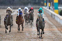 HOT SPRINGS, AR - FEBRUARY 19: My Boy Jack (far right) ,with jockey Kent Desormeaux wins the Southwest Stakes at Oaklawn Park on February 19, 2018 in Hot Springs, Arkansas. (Photo by Ted McClenning/Eclipse Sportswire/Getty Images)