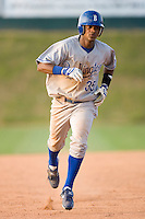 Victor Soto #35 of the Burlington Royals rounds the bases after hitting a home run versus the Johnson City Cardinals at Howard Johnson Stadium June 27, 2009 in Johnson City, Tennessee. (Photo by Brian Westerholt / Four Seam Images)