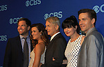 NCIS Cast - Michael Weatherly - Cote de Pablo - Mark Harmon - Perrette Pauley - Brian Dietzen at the CBS Upfront on May 15, 2013 at Lincoln Center, New York City, New York. (Photo by Sue Coflin/Max Photos)
