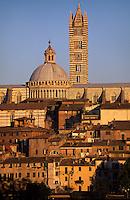 Dom und Baptisterium, Siena, Toskana, Italien, Unesco-Weltkulturerbe