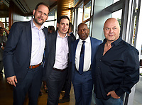 LOS ANGELES, CA - SEPTEMBER 16: (L-R) Nick Grad, Eric Schrier, John Singleton and Michael Chiklis attend the FX Networks and Vanity Fair 2017 Primetime Emmy Nominee Celebration at Craft LA on September 16, 2017 in Los Angeles, California. (Photo by Frank Micelotta/FX/PictureGroup)