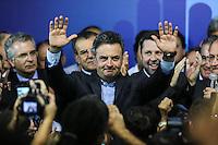 SAO PAULO, SP, 25 DE MARCO 2013 - CONVENÇÃO ESTADUAL DO PSDB - O senador  Aércio Neves  durante Conveção estadual do PSDB-SP  na noite desta segunda-feira. 25 no sede do partido na regiao sul da cidade de Sao Paulo. FOTO: WILLIAM VOLCOV - BRAZIL PHOTO PRESS