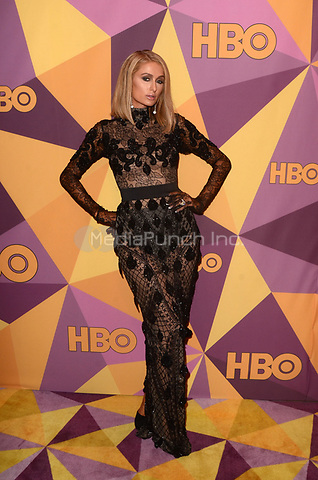 BEVERLY HILLS, CA - JANUARY 7: Paris Hilton at the HBO Golden Globes After Party, Beverly Hilton, Beverly Hills, California on January 7, 2018. Credit: <br /> David Edwards/MediaPunch