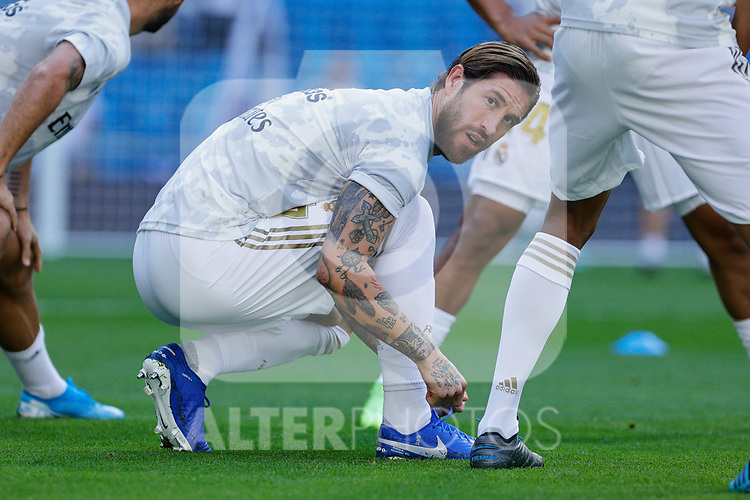 Sergio Ramos of Real Madrid during La Liga match between Real Madrid and Granada CF at Santiago Bernabeu Stadium in Madrid, Spain. October 05, 2019. (ALTERPHOTOS/A. Perez Meca)