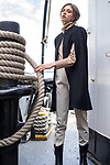 Sunday Mail Fashion with Mirella, Woolens Mariner inspired fashions on the Yelta Steam Tub port Adelaide.  Photo: Nick Clayton