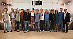 MADRID, SPAIN - AUGUST 26: (L-R) Jesus Carroza, Ghislain Barrois, Enma Lustres, Said Chatiby, Sergi Lopez, Barbara Lennie, Daniel Monzon, Jesus Castro, Luis Tosar, Eduard Fernandez, Mariam Bachir, Edmon Roch, Alvaro Agustin attends a photocall for El Nino at the Hesperia Hotel on August 26, 2014 in Madrid, Spain.in Madrid, Spain (ALTERPHOTOS / Nacho Lopez)