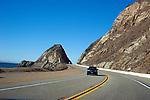 Pacific Coast Highway heading north from Los Angeles past Malibu on the California coast.