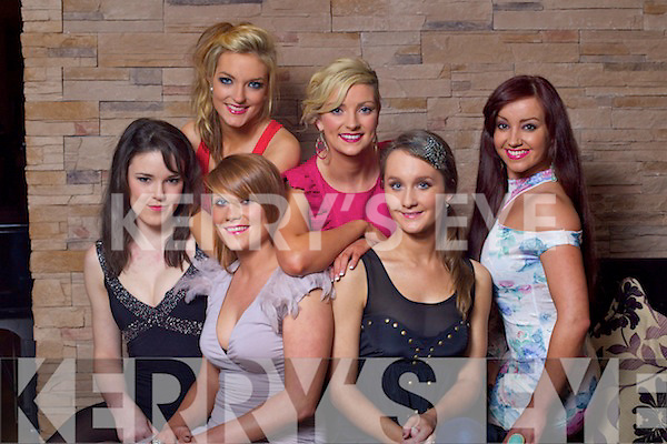 Finalists in the Miss Kerry Irish News of the World which will take place in the Carlton hotel Tralee on Friday night, from left in Patriona Lyons, Lorraine Gurnett, Claire O'Brien, Genevieve Keane, Karen Harrington and Lindsey Kelly Missing from photo is Slaine Hutchendon.