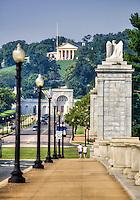 Arlington Cemetery form Memorial Bridge Washington DC