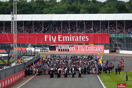 10.07.2016. Silverstone, England. Formula One British Grand Prix, race day.  The cars line up on the grid.