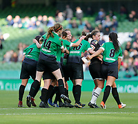 3rd November 2019; Aviva Stadium, Dublin, Leinster, Ireland; FAI Cup Womens Final Football, Peamount United versus Wexford Youth Womens Football Club; Peamount United players celebrate after Karren Duggan scores a 32nd minute equaliser to make it 1-1 - Editorial Use