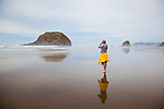 Hiking the beach from Haystack Rock to Hug Point.