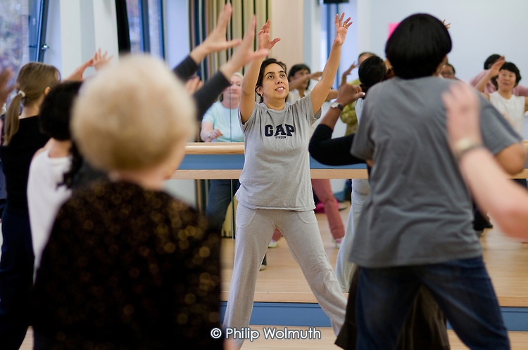 Salsa class at the Stowe Centre, Harrow Road.