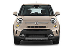 Car photography straight front view of a 2014 Fiat 500L Trekking 5 Door Hatchback Front View