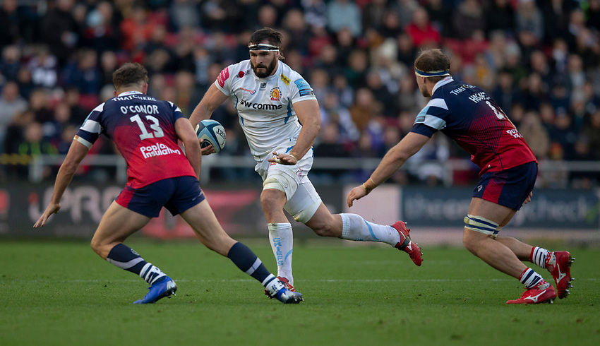 Exeter Chiefs' Don Armand in action during todays match<br /> <br /> Photographer Bob Bradford/CameraSport<br /> <br /> Gallagher Premiership Round 7 - Bristol Bears v Exeter Chiefs - Sunday 18th November 2018 - Ashton Gate - Bristol<br /> <br /> World Copyright © 2018 CameraSport. All rights reserved. 43 Linden Ave. Countesthorpe. Leicester. England. LE8 5PG - Tel: +44 (0) 116 277 4147 - admin@camerasport.com - www.camerasport.com
