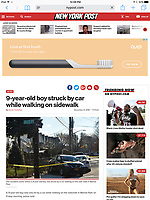 9 year old struck by car. Shot for the NY Post.