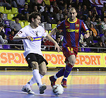 EL FC Barcelona Alusport es clasifica per la final de la Copa del Rei despres de guanyar el partit de tornada de la semifinal 6-1 contra el Azkar Lugo. A la foto Rafa Lopez