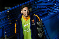 Barcelona´s Leo Messi before 2015-16 La Liga match between Real Madrid and Barcelona at Santiago Bernabeu stadium in Madrid, Spain. November 21, 2015. (ALTERPHOTOS/Victor Blanco) /NortePhoto