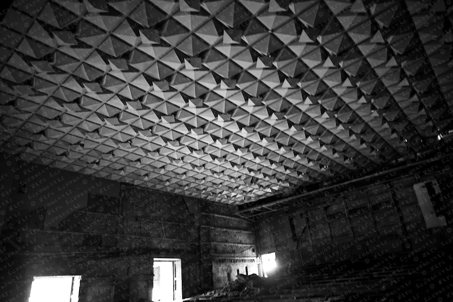 Documenting the echos of Chernobyl Tragedy, The theather In the abandoned town of Prypjat, long term reminder of the mass destruction caused by the nuclear explosion in Chernobyl, Ukraine on April 25-26, 1986.