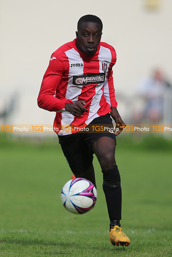 Akin Obamakin of Clapton during Clapton vs Norwich United, Emirates FA Cup Football at the Old Spotted Dog Ground on 19th August 2017