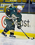 8 November 2008: Wayne State University Warriors' defenseman Chelsea Burnett, a Junior from Ridgeway, Ontario, in action against the University of Vermont Catamounts at Gutterson Fieldhouse, in Burlington, Vermont. The Warriors shut out the Catamounts 7-0...Mandatory Photo Credit: Ed Wolfstein Photo