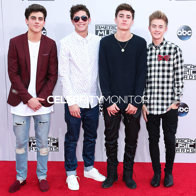 LOS ANGELES, CA, USA - NOVEMBER 23: Sammy Wilk, Samuel Andazola, Nathanael Andazola, Jack Johnson arrive at the 2014 American Music Awards held at Nokia Theatre L.A. Live on November 23, 2014 in Los Angeles, California, United States. (Photo by Xavier Collin/Celebrity Monitor)