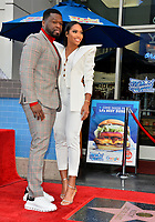 """LOS ANGELES, CA. January 30, 2020: Curtis 50 Cent Jackson & Jamira Haines at the Hollywood Walk of Fame Star Ceremony honoring Curtis """"50 Cent"""" Jackson.<br /> Pictures: Paul Smith/Featureflash"""