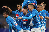 Amin Younes of Napoli celebrates with team mates after scoring a goal<br /> Napoli 17-03-2019 Stadio San Paolo, <br /> Football Serie A 2018/2019 Napoli - Udinese<br /> Foto Cesare Purini / Insidefoto