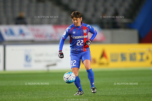 Naotake Hanyu (FC Tokyo), <br /> FEBRUARY 9, 2016 - Football / Soccer : <br /> AFC Champions League 2016 Play-off <br /> between FC Tokyo 9-0 Chonburi FC <br /> at Tokyo Stadium, Tokyo, Japan. <br /> (Photo by YUTAKA/AFLO SPORT)