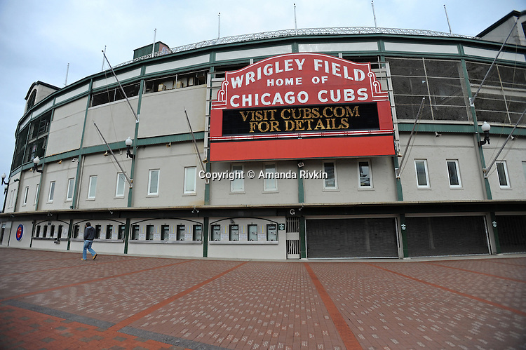 Wrigley Field, a Chicago landmark, on March 23, 2009.