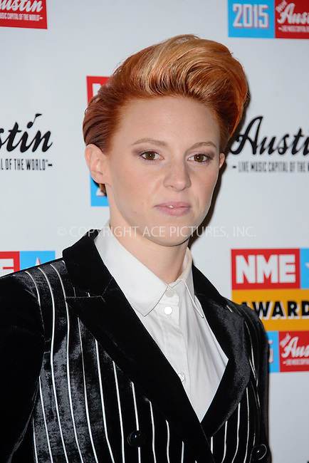 WWW.ACEPIXS.COM<br /> <br /> February 18 2015, London<br /> <br /> La Roux attends the NME Awards 2015 at the Brixton Academy on February 18 2015 in London. <br /> <br /> By Line: Famous/ACE Pictures<br /> <br /> <br /> ACE Pictures, Inc.<br /> tel: 646 769 0430<br /> Email: info@acepixs.com<br /> www.acepixs.com