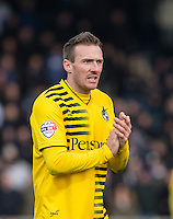 Liam Lawrence of Bristol Rovers during the Sky Bet League 2 match between Wycombe Wanderers and Bristol Rovers at Adams Park, High Wycombe, England on 27 February 2016. Photo by Andrew Rowland.