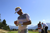 Soren Kjeldsen (DEN) walks onto the 7th tee during Sunday's Final Round 4 of the 2018 Omega European Masters, held at the Golf Club Crans-Sur-Sierre, Crans Montana, Switzerland. 9th September 2018.<br /> Picture: Eoin Clarke | Golffile<br /> <br /> <br /> All photos usage must carry mandatory copyright credit (&copy; Golffile | Eoin Clarke)