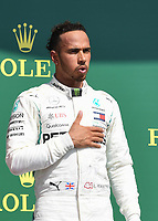 LEWIS HAMILTON (GBR) of Mercedes-AMG Petronas Motorsport during The Formula 1 2018 Rolex British Grand Prix at Silverstone Circuit, Northampton, England on 8 July 2018. Photo by Vince  Mignott.
