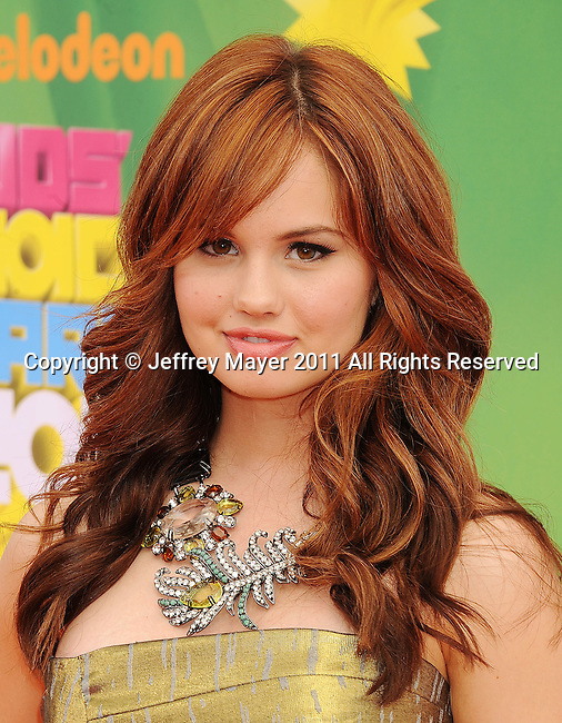 LOS ANGELES, CA - APRIL 02: Debby Ryan arrives at Nickelodeon's 24th Annual Kids' Choice Awards at Galen Center on April 2, 2011 in Los Angeles, California.