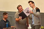 Performer Marc Molomot (John Adams) receives notes from Piano Coach and Repetiteur David Sytkowski at an Open Rehersal of the opera, The Mother of Us All, at the Hudson Opera House, in Hudson, NY, on Friday, October 27, 2017. Photo by Jim Peppler. Copyright/Jim Peppler-2017.