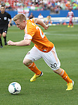 Houston Dynamo midfielder Andrew Driver (20) in action during the game between the FC Dallas and the Houston Dynamo at the FC Dallas Stadium in Frisco,Texas.