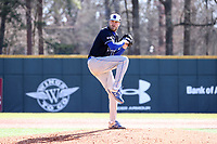 ELON, NC - MARCH 1: Tyler Grauer #37 of Indiana State University throws a pitch during a game between Indiana State and Elon at Walter C. Latham Park on March 1, 2020 in Elon, North Carolina.