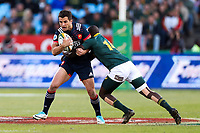 Brice Dulin of France of France tackled by Raymond Rhule of South Africa during the international test match between South Africa and France  at Loftus Versfeld Stadium on June 10, 2017 in Pretoria, South Africa. (Photo by SHSport /Icon Sport)