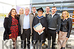 Karen Lonergan from Tralee graduating after 10 years of study in I T Tralee, who had to take a break due to an illness, graduates with a Bachelor of Arts in Youth and Community Work Practice.<br /> L to r: Katie, Mattie, Alicia and Matthew O'Connor, Emmett Tarmey, David Lonergan and Caroline Morrissey.