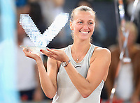 Petra Kvitova, Czech Republic, celebrates the victory in the Madrid Open Tennis 2018 Final match. May 12, 2018.(ALTERPHOTOS/Alberto Simon)
